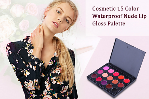 Matte Waterproof Lip Gloss  Palette - MyShimi.com