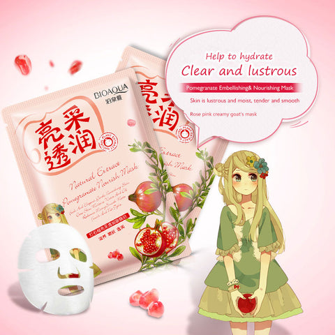 Natural Extract Red Pomegranate Radiance Face Masks - MyShimi.com