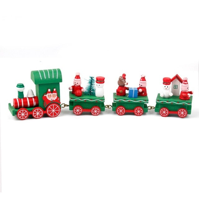 Wooden  Little Train Christmas Decorations for Home - MyShimi.com