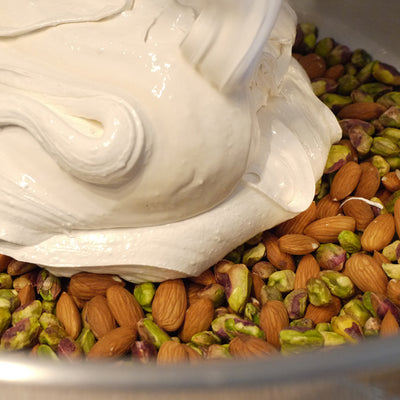Red Kite Candy Nougat Process - Pistachios and Almonds