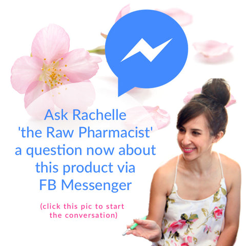 Ask the Raw Pharmacist a question via Facebook Messenger