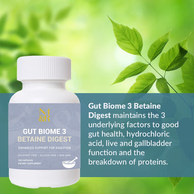 M&R Essentials - Gut Biome 3 Betaine Digest Natural Supplement