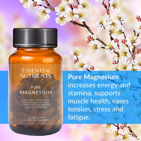 M&R Essentials Pure Magnesium raises energy and stamina levels while helping to reduce nervous tension, stress and fatigue. It also promotes cardiovascular health by maintaining healthy blood vessels and heart functions.