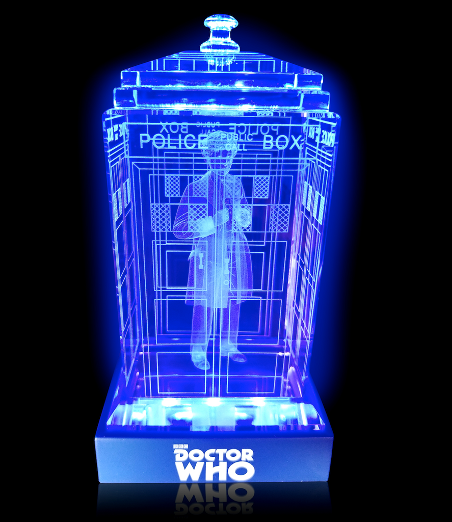 6th Doctor (Colin Baker) Crystal TARDIS