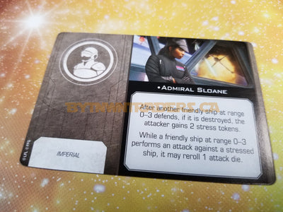 Admiral Sloane Upgrade Card