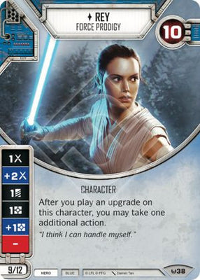 Rey - Force Prodigy (1 card, 2 dice)