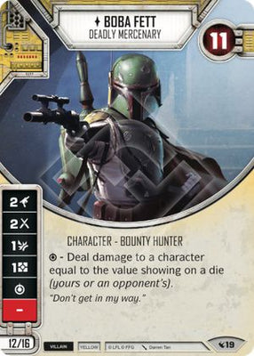 Boba Fett - Deadly Mercenary (1 card, 2 dice)