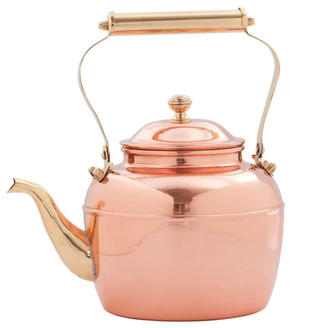 Old Dutch Solid Copper Teakettle Brass Handle 2 5 Quart - Diamond Home USA