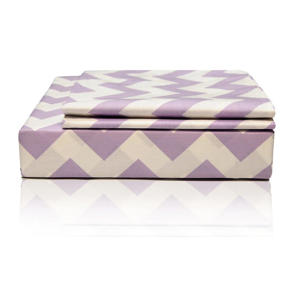 Chevron Zig Zag Pattern Pocket Sheet Set Zigzag Stripes Printed Solid Adult Bedding Master Bedroom