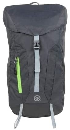 Darter Packable Backpack Grey Solid Polyester Foldable