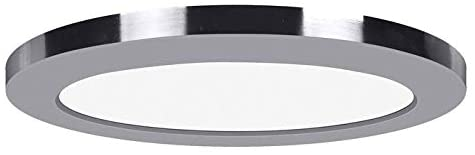 7 inch Chrome 120v Led Round Flush Mount Transitional Acrylic