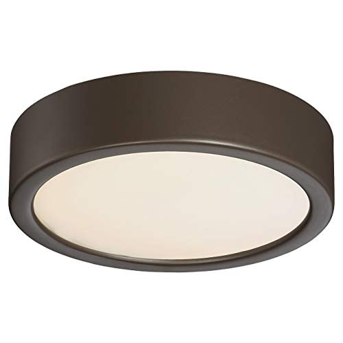 Painted Copper Bronze Flush Brown Modern Contemporary Steel Dimmable