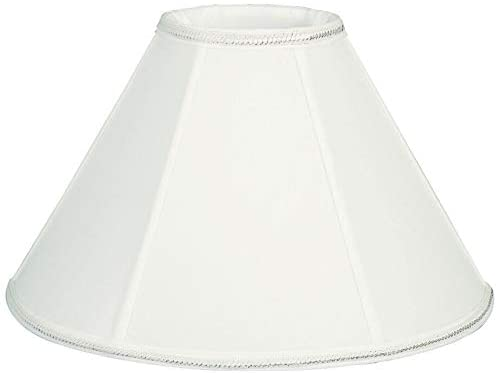 Round Empire Designer Lamp Shade White 4 5 X 12 7 5 Modern Contemporary Traditional