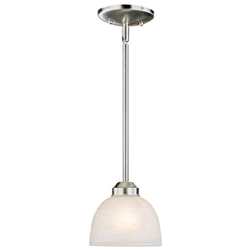 1 Light Mini Pendant Grey Traditional Metal Dimmable