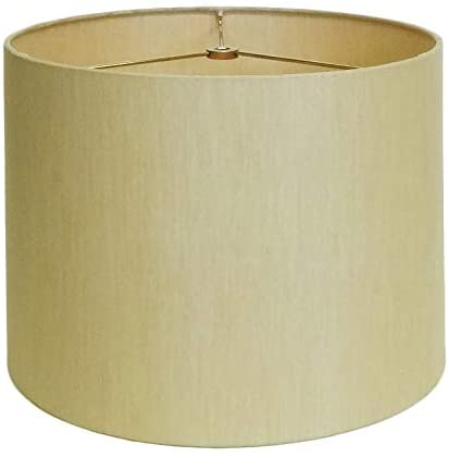 Drum Light Gold Round Hardback Lamp Shade Beige Traditional Transitional