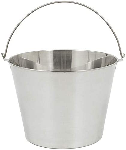 Stainless 6 5 Gallon Beverage/ice Bucket Metal Steel Handle