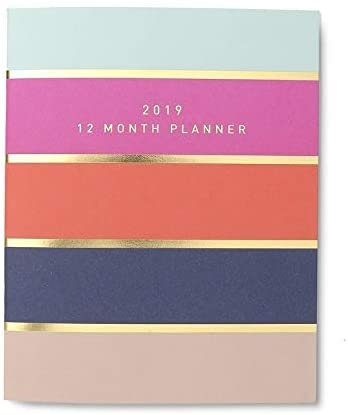 Bold Stripes Gold Foil 2019 Planner 6 5 X 8 125 Inches Color Paper