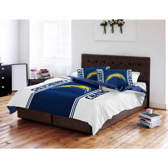 NFL San Diego Chargers Comforter Twin Sports Patterned Bedding Team Logo Fan Merchandise Team Spirit Football Themed National Football League Blue