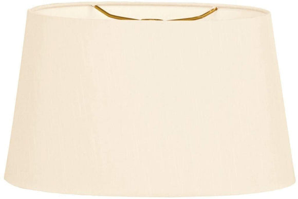 Shallow Oval Hardback Lamp Shade Eggshell 12 X 14 8 5 Cream Traditional