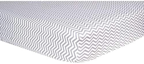 Flannel Crib Sheets (Pack 2) Grey White Stripe Basic Cotton