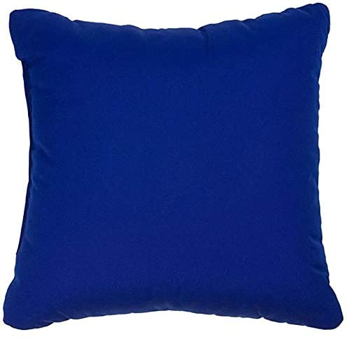 Blue 18 inch Knife Edged Indoor/Outdoor Pillows Fabric (Set 2) Solid Modern Contemporary Traditional Transitional Polyester