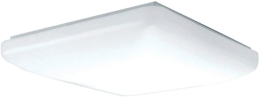12 inch White Led 3000k Flush Mount Acrylic Shade Modern Contemporary Steel