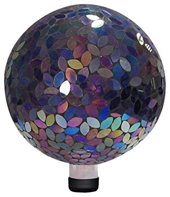 10 inch Purple Mosaic Gazing Ball Glass