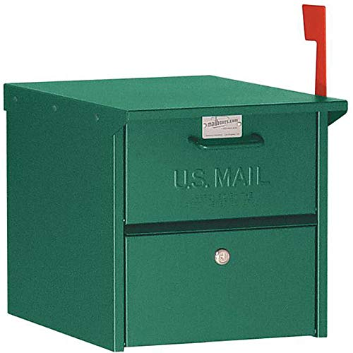 Green Locked Mailbox Curbside Aluminum US Mail Box Secure Protection Safe Locking Retro Sturdy
