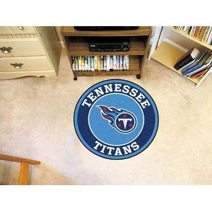 27 Inch NFL Tennessee Titans Mat Team Logo Printed Round Rug Sports Football Themed Floor Mats Carpet Home Office Bedroom Bath Area Rug Team Spirit