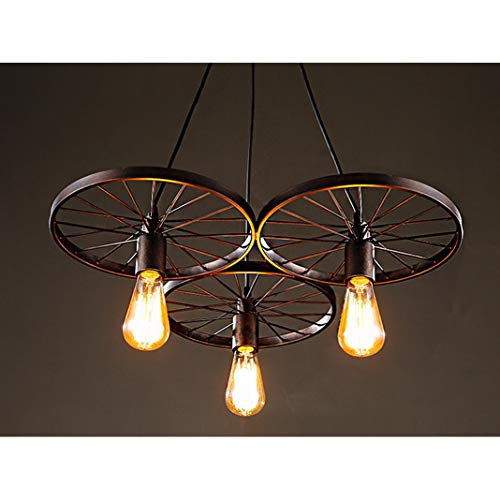 Wagon Wheel Chandelier Farmhouse Rustic Theme Light Fixture Metal