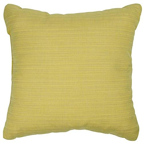 Cornsilk 22 inch Indoor/Outdoor Pillows Fabric (Set 2) Yellow Solid Traditional Transitional Fade Resistant Uv Water