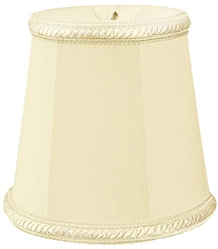 "Eggshell Deep Empire Chandelier Lamp Shade Decorative Trim 3"" X 4 25"" Clip Set 6 Cream Modern Contemporary"