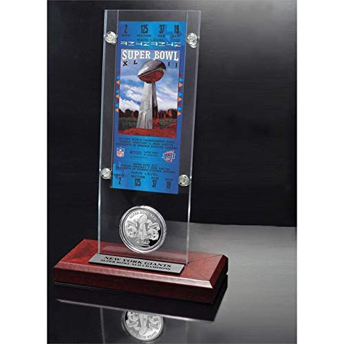 NFL New York Giants Replica Super Bowl 42 Ticket Game Coin Football Themed Sports Pattern Game Coin Team Logo Merchandise Fan Athletics Team Spirit