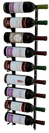 3 Ft Single Deep Satin Black Wine Rack Metal