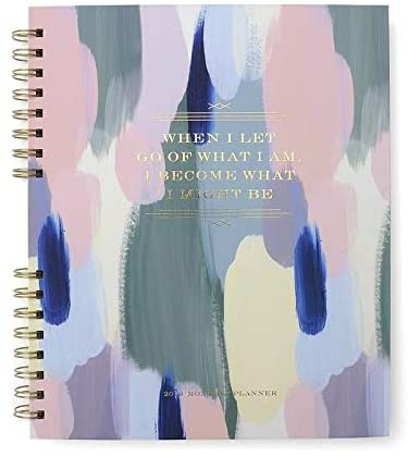 Brush Strokes Gold Foil 12 Month Planner 9 10 5 Inches Color Paper