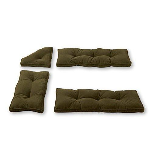 Greendale Home Fashions 4 Piece Nook Cushion Set Cherokee Solid Microfiber Wine
