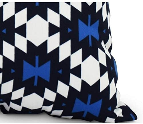 14 X 20 Inch Navy Blue Decorative Abstract Outdoor Throw Pillow Transitional Polyester