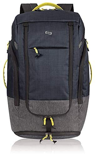 17 3 inch Laptop Convertible Backpack/Duffel Bag Black Blue Grey Solid Polyester Compartment Compartment