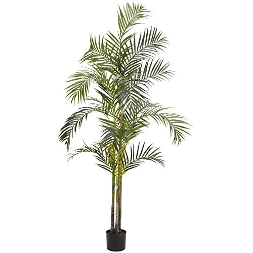 Green Areca Palm Tree Artificial Plants Tropical Indoor Palmtree Floral Dypsis Lutescens Botanical Arecaeae Butterfly Palm Golden Cane Plant 7