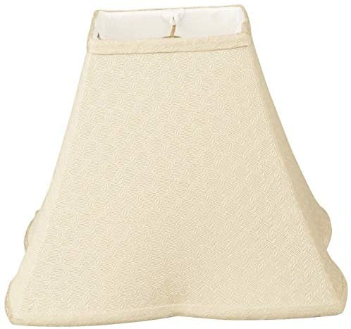 Square Empire Patterned Designer Lamp Shade Beige 5 5 X 12 10 Modern Contemporary Traditional