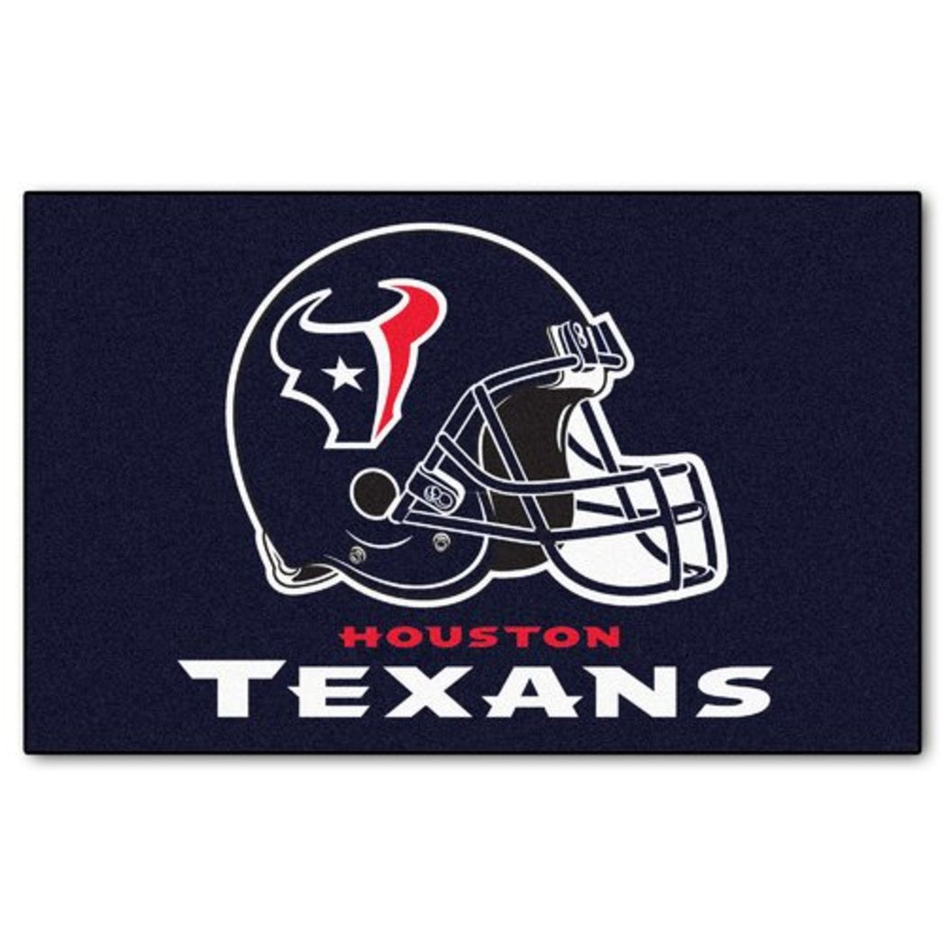 "19"" X 30"" Inch NFL Texans Door Mat Printed Logo Football Themed Sports Patterned Bathroom Kitchen Outdoor Carpet Area Rug Gift Fan Merchandise Vehicle - Diamond Home USA"