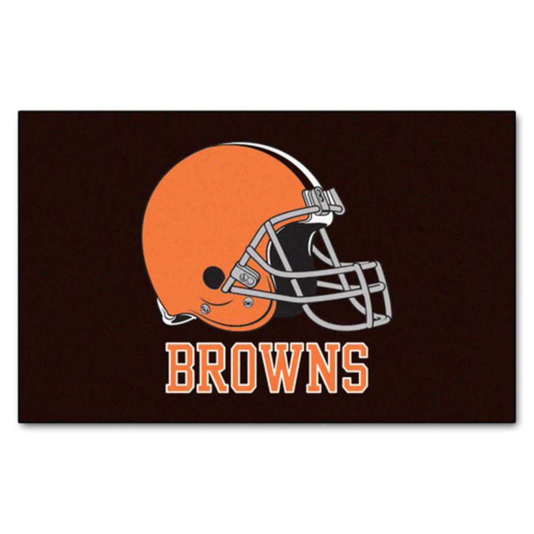 "19"" X 30"" Inch NFL Browns Door Mat Printed Logo Football Themed Sports Patterned Bathroom Kitchen Outdoor Carpet Area Rug Gift Fan Merchandise Vehicle - Diamond Home USA"
