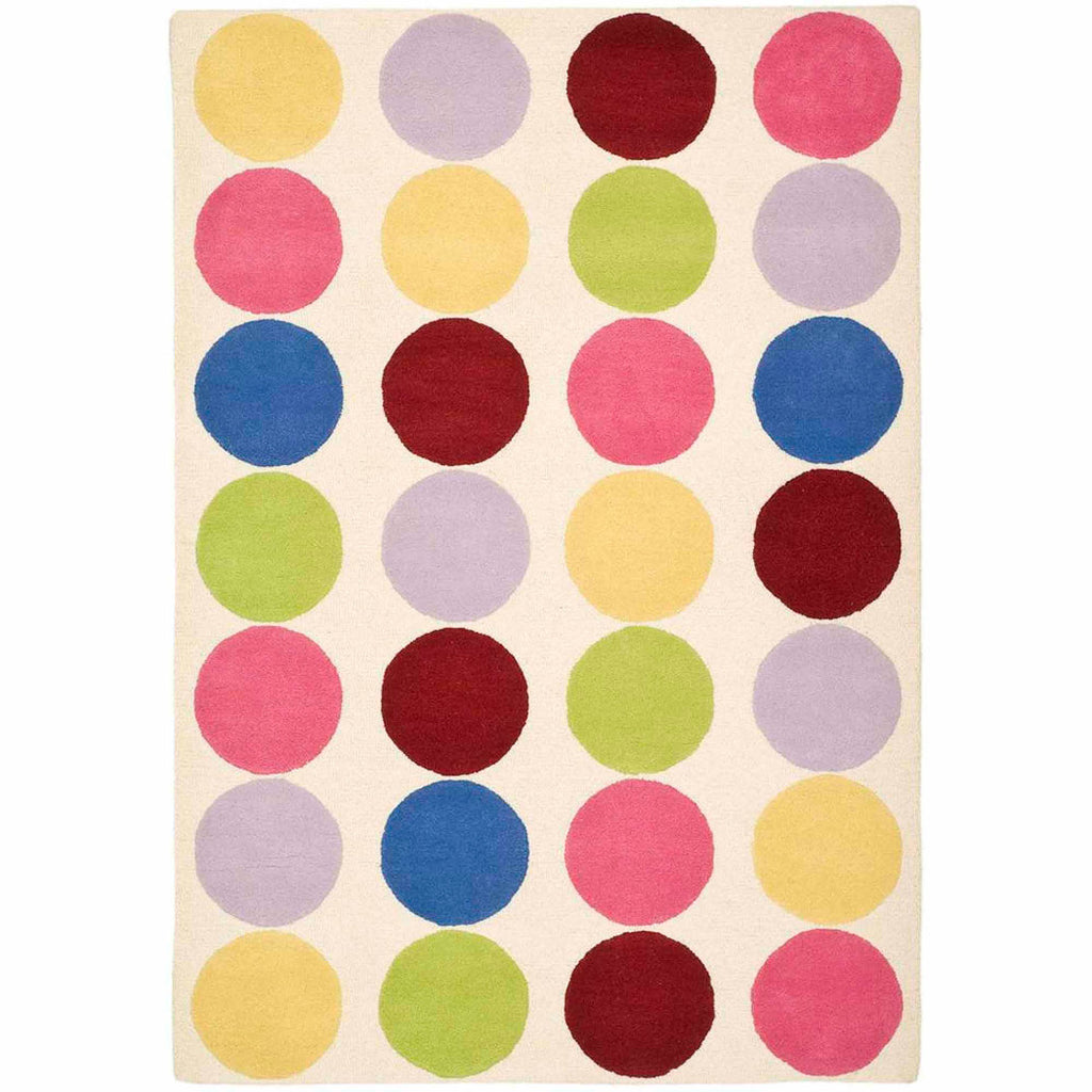 Polka Dots Patterned Area Rug Indoor Geometric Circle Design Living Room Mat Rectangle