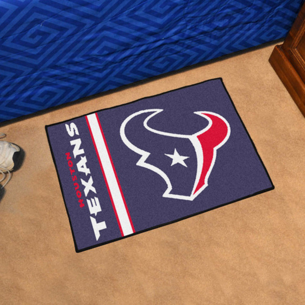 19 X 30 NFL Texans Door Mat Printed Logo Football Themed Sports Patterned Bathroom Kitchen Outdoor Carpet Area Rug Gift Fan Merchandise Vehicle Team Spirit Blue Red Nylon - Diamond Home USA