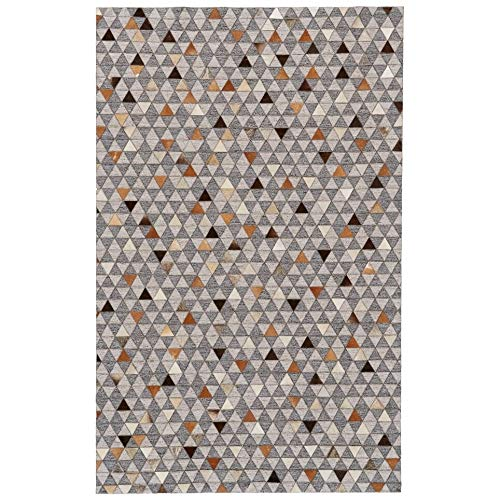 Multicolor Viscose Leather Handmade Area Rug 2' X 3' Color Geometric Modern Contemporary Latex Free