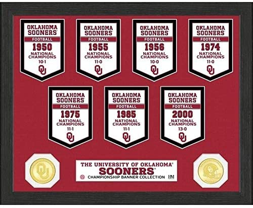 University Oklahoma National Champions Banner Collection Photo Mint 12x15 Red Made USA