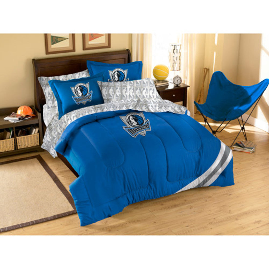 NBA Dallas Mavericks Comforter Full Set Sports Patterned Bedding Team Logo Fan Merchandise Team Spirit Basketball Themed National Basketball League - Diamond Home USA