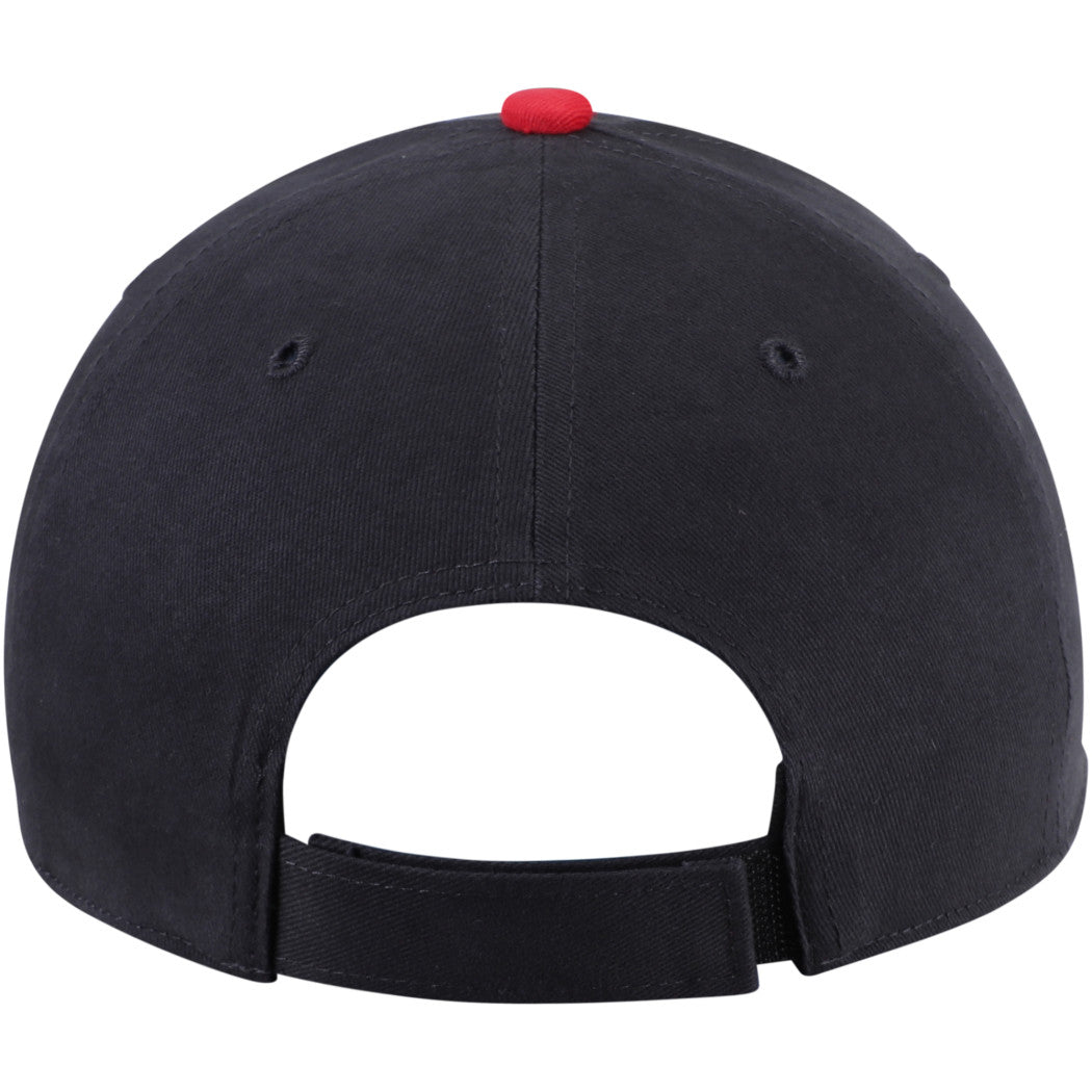 Indians Basic Cap Boys Red Baseball Themed Rectangular Hat Sports Pattern Team Logo Fan Merchandise Athletic Team Spirit Fan Stylish Comfortable Black - Diamond Home USA