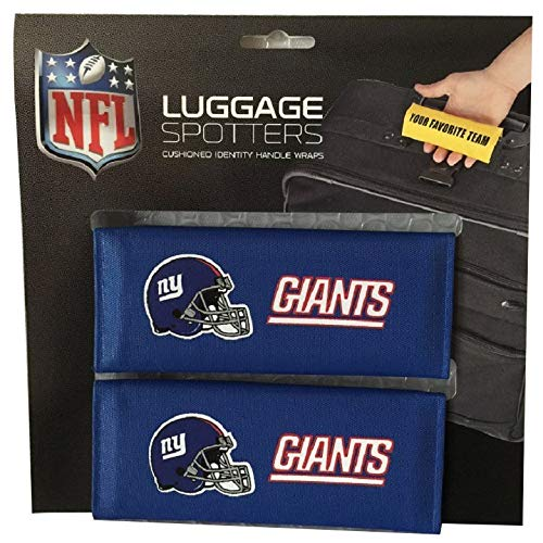 Blue NFL New York Giants Luggage Spotters Football Themed Patented Luggage Grips