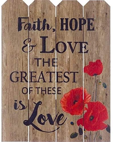 Wood Pallet Art Faith Hope Love Farmhouse Rustic Birchwood Handmade